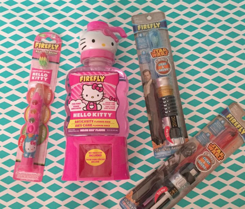 Firefly Toothbrushes and Mouth Wash