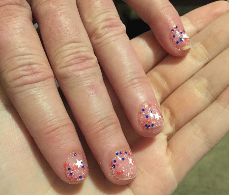 SinfulColors Having a Blast 4th of July Collection confetti polish