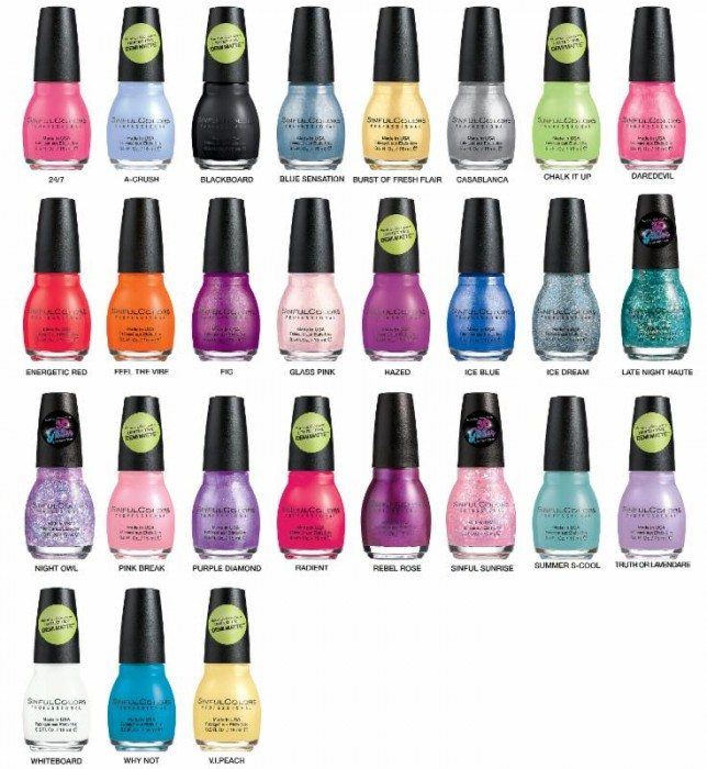 Sinful Colors A Class Act Nail Polish Collection