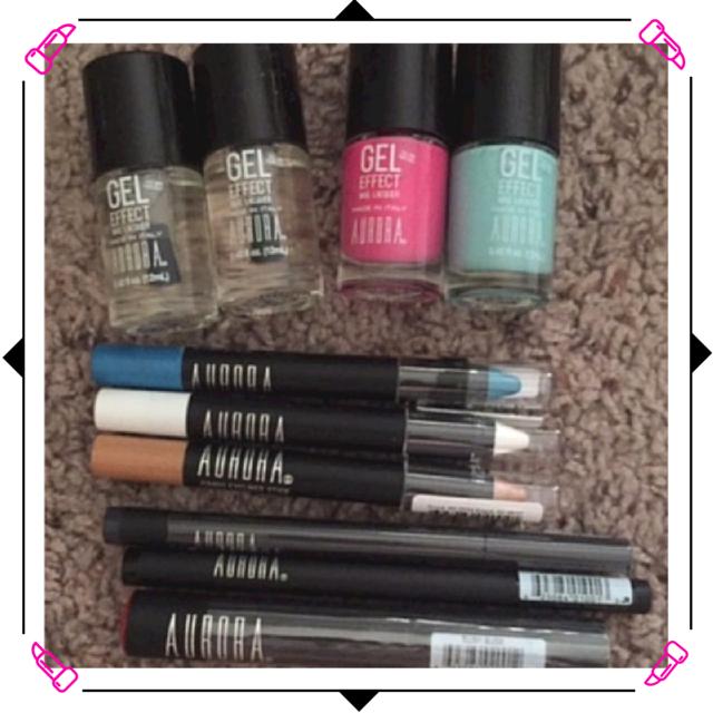 Aurora Cosmetics Blush Lip Stain , Blackberry Eyeliner Pen, and Nude Jumbo Chubby Stick (1)