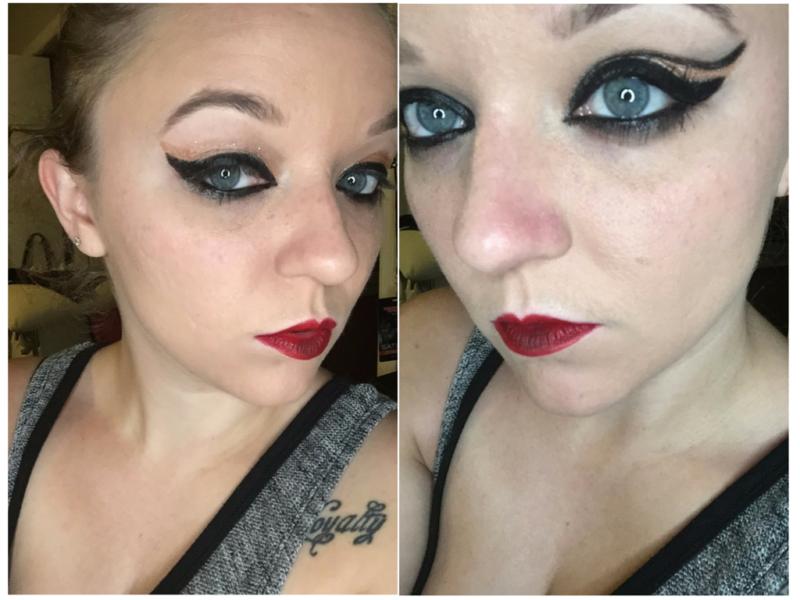 Aurora Cosmetics Blush Lip Stain , Blackberry Eyeliner Pen, and Nude Jumbo Chubby Stick