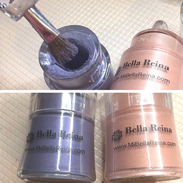 Mi Bella Reina Loose Mineral Shimmer Shadows in Tea Rose and Rich Iris #BellaGirl #Bblogger (1)