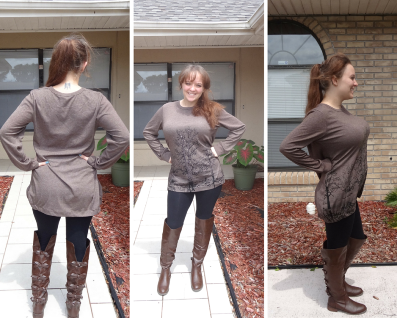 V28 Irregular Blouse in the Color Coffee - Loose Fit