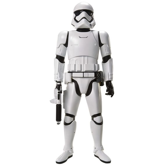 "Star Wars: The Force Awakens Big Figs 31"" and 48"" Licensee: JAKKS Pacific MSRP: $34.99 for 31""; $99.99 for 48"" Available: September 4 Our 31 inch Massive Big Figs have 5-7 points of articulation and a signature weapon ready for battle. Kylo Ren: A dark warrior strong with The Force, Kylo Ren commands First Order missions with a temper as fiery as his unconventional Lightsaber. First Order Stormtrooper: Equipped with sleep armor and powerful weapons, the Stormtroopers enforce the will of the First Order. Standing at a whopping 48 inches, our Colossal scale Big Figs are interactive with an amazing motion detection feature. When you enter the room, they will recognize your presence and respond with movie lines and sound effects. The Stormtrooper also has an additional elbow joint to allow him to pose with his blaster."
