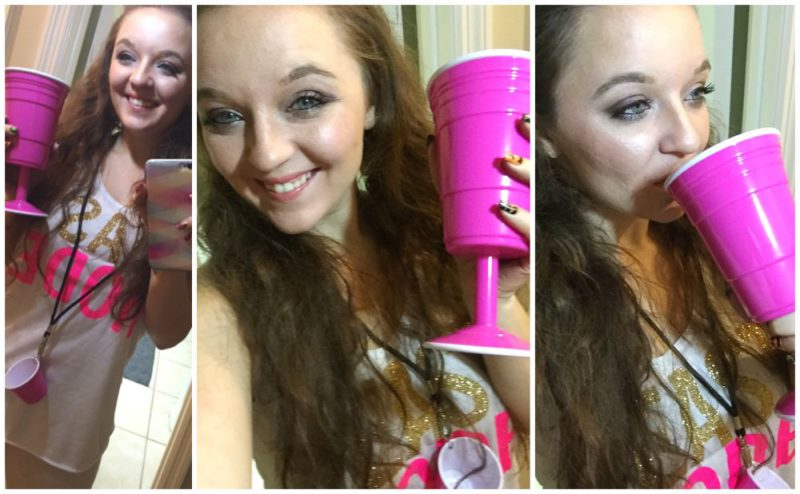 Red Cup Living Hot Pink Cups for Girls Night