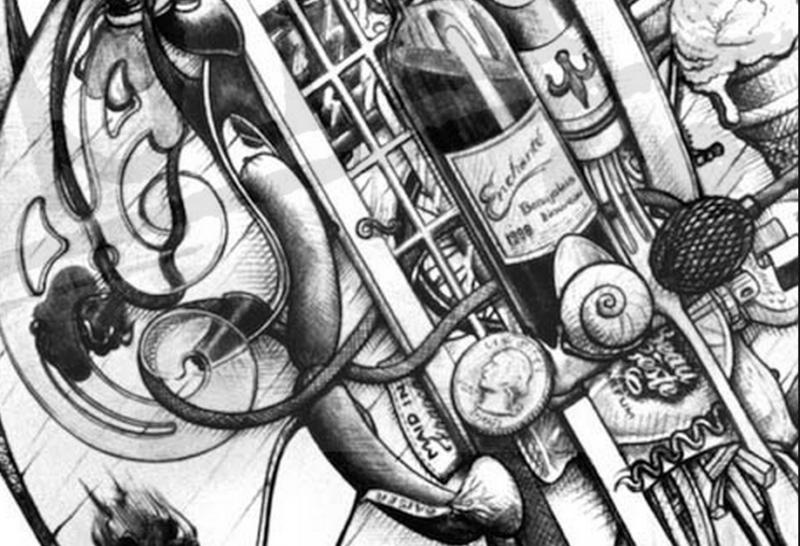 French Horn Art - Ds Art #MusicMonday