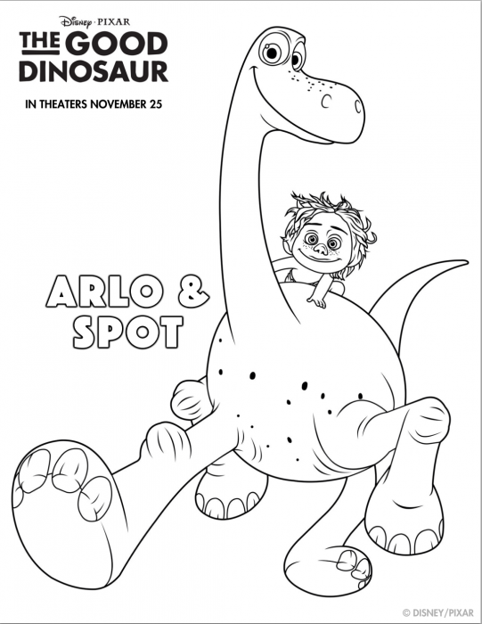 The Good Dino Coloring Sheets