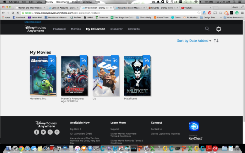 Disney Movies Anywhere - My Collection