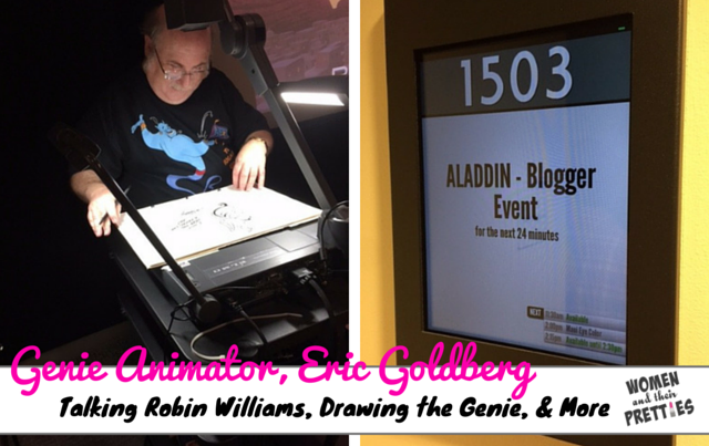 Genie Animator, Eric Goldberg, Talks Robin Williams & Bringing Genie To Life #AladdinBloggers