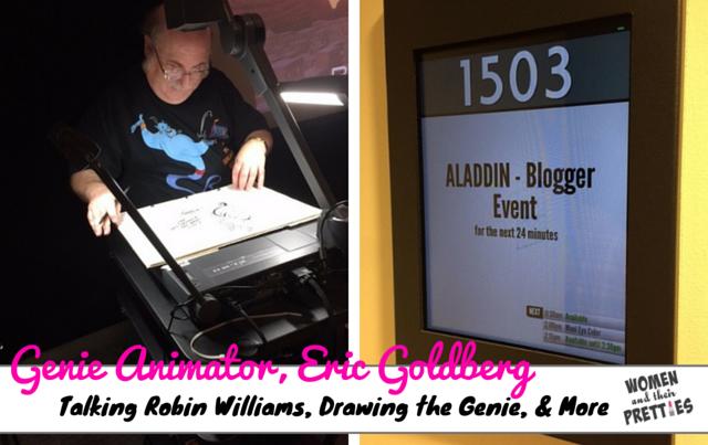 Genie Animator, Eric Goldberg, Talks Robin Williams & Bringing Genie To Life #AladdinBloggers