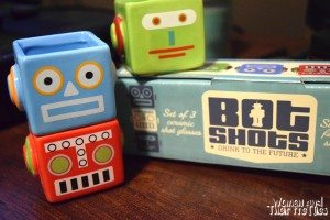 Gifts For Him - Retro Robot Shot Glasses
