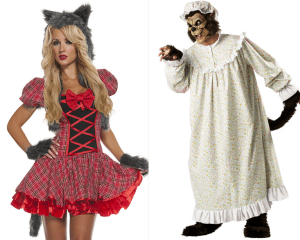 Little Red Riding Hood and The Big Bad Wolf - Couples Costumes for Halloween
