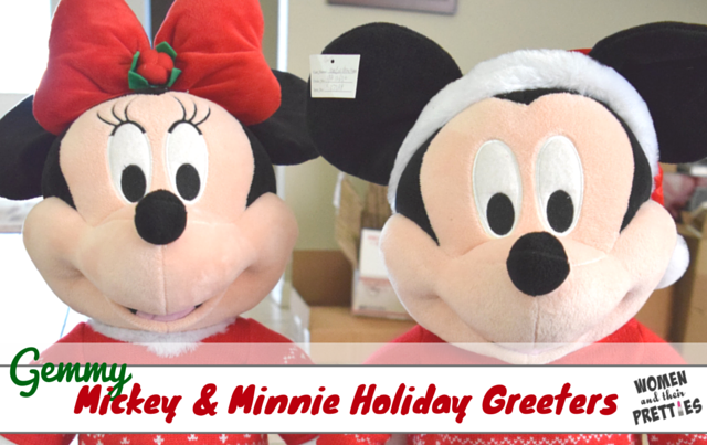 Mickey and Minnie Holiday Greeters