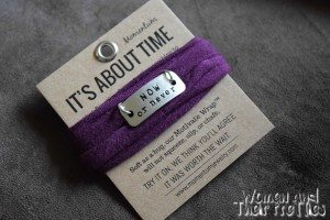 Now or Never Wrap - Motivational Jewelry