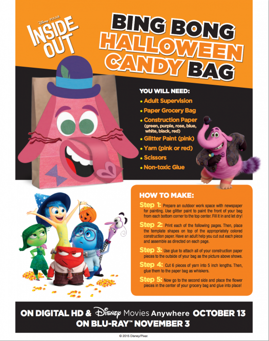 Free Inside Out Halloween Activities