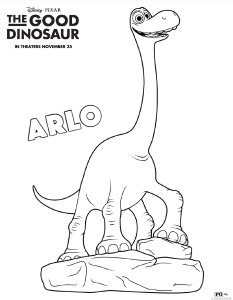 Good Dino Free Coloring Sheet