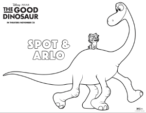Good Dino Free Coloring Sheet