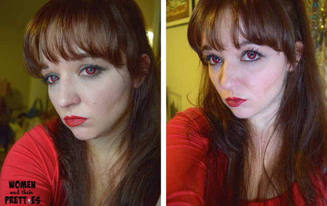 Spooky Eyes - Colored Contact Lenses , Red Contacts (2)