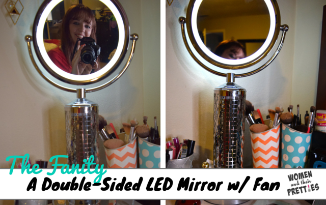 The Fanity - Double-Sided LED Mirror with Fan