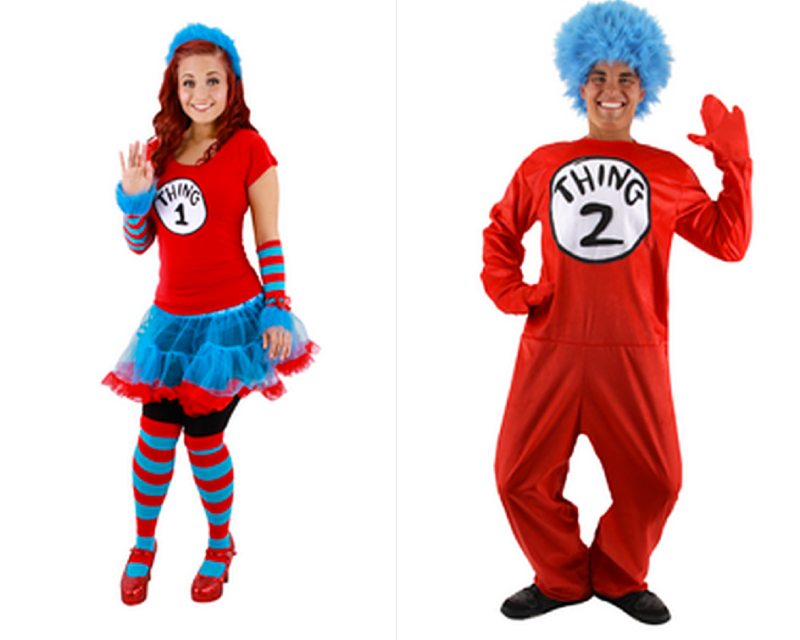 Thing 1 and Thing 2 - Couples Costumes for Halloween