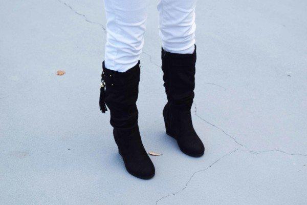 Ami Clubwear Black Suede Fringe Tassel Fashion Blogger