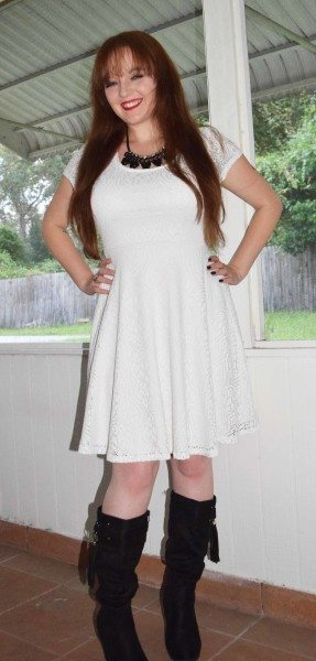 Ami Clubwear White Casual Dress Fashion Blogger