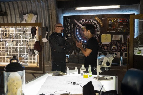 Marvel's Ant-Man..L to R: Director Peyton Reed and Paul Rudd (Scott Lang/Ant-Man) on set...Photo Credit: Zade Rosenthal..? Marvel 2014