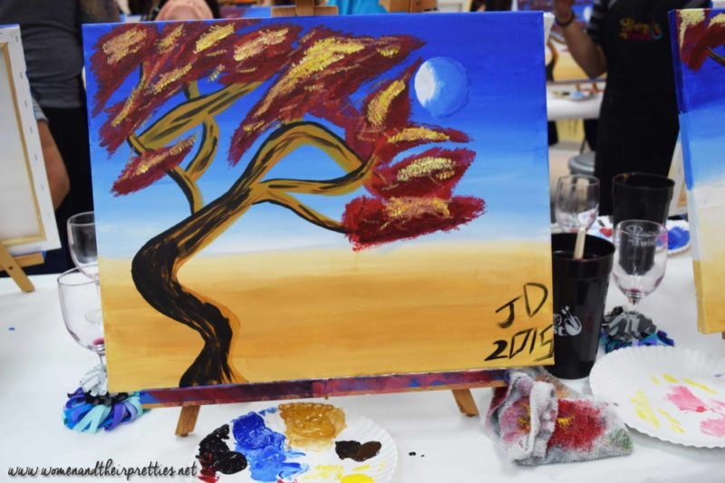 Painting With a Twist Orange City Final Painting