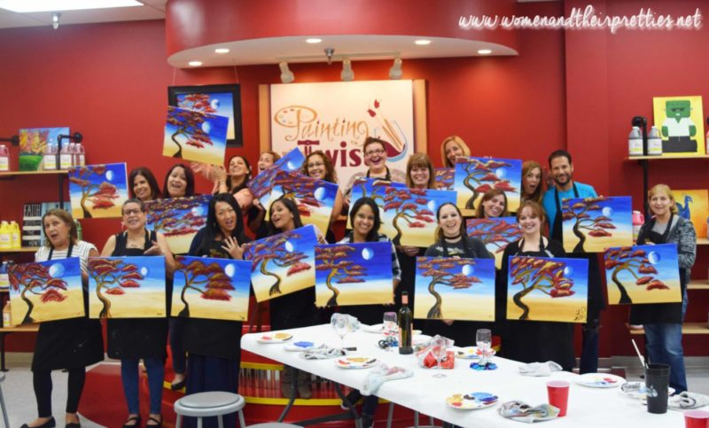 Painting With a Twist Orange City Group Shot 1