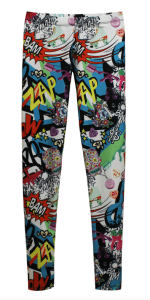 Urban Collage Superhero Leggings