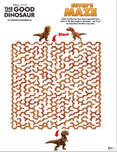 The Good Dino Free Activity Sheets