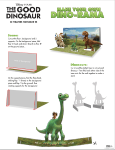 The Good Dino Free Activity Sheets