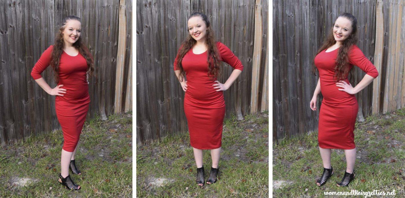 Three Shots in this Sexy Red Dress