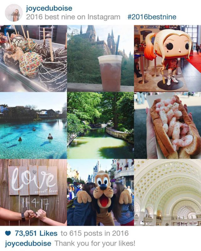 2016 Best Nine on Instagram