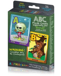 He's All Boy Fun Flash Cards for Kids