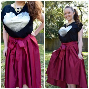 High Low Vintage Skirt