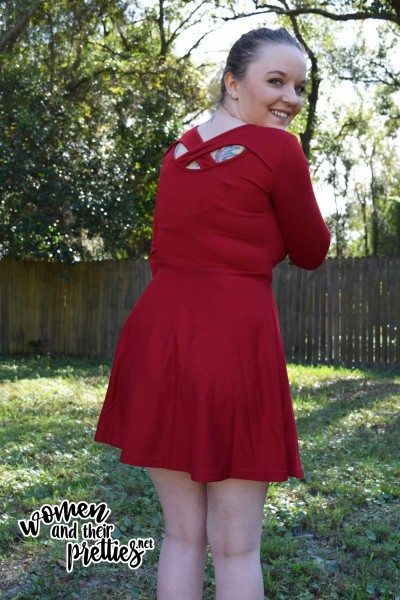 Red Keyhole Dress REview