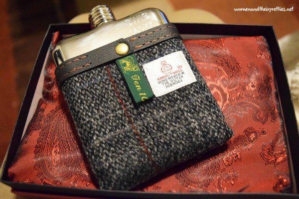 SWIG Harris Tweed Flask