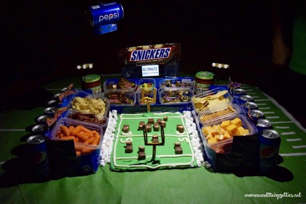 Snickers and Pepsi DIY Snack Stadium