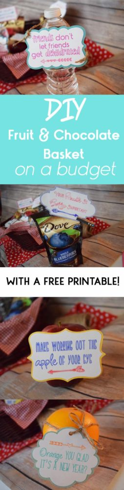 #DIY Fruit and Chocolate Basket With #Free Printables!