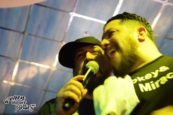 Bromance at it's finest - Joey Fatone and Sal Vulcano doing karaoke.