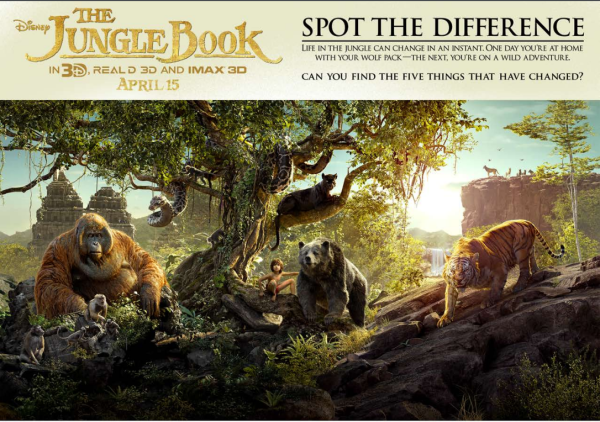 The Jungle Book Free Acticvity Sheet Spot The Difference