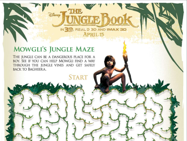 The Jungle Book Free Activity Sheet Maze
