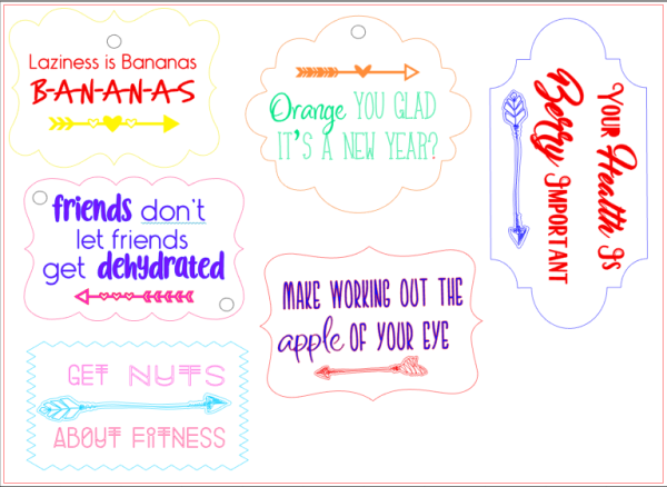 Free Printable Tags - Wellness Quotes