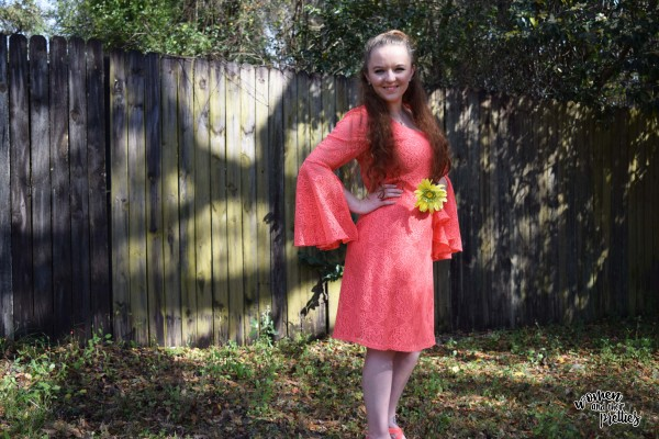 Coral Spring Dress from metrostyle