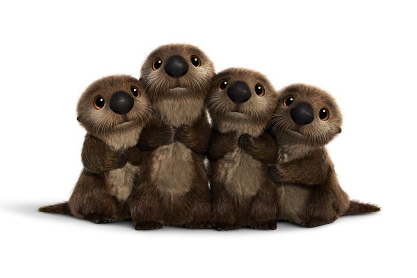 OTTERS are seriously cute. ©2016 Disney•Pixar. All Rights Reserved.