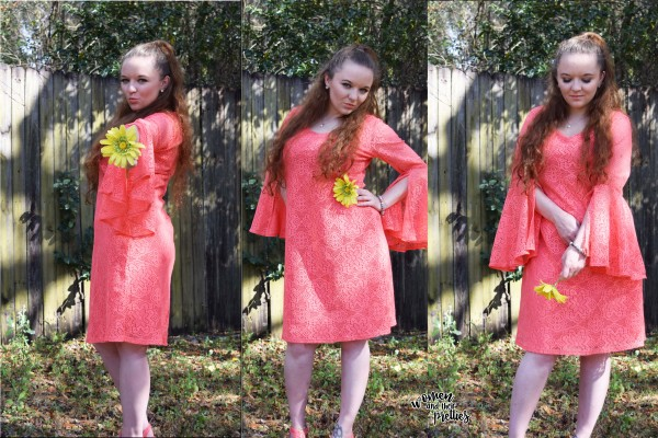 Pretty coral dress from metrostyle.com