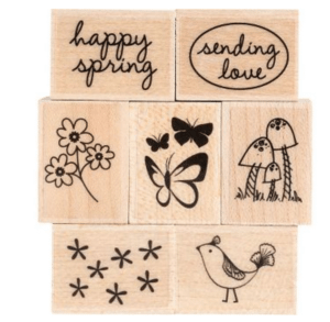 Spring Messages Rubber Stamp Set