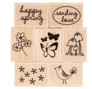 Spring Messages Rubber Stamp Set