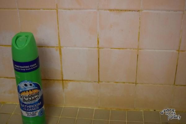 Scrubbing Bubbles Bathroom Wall Before Photo